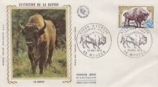 FRANCE FDC - 887 1795 1 BISON D'EUROPE 25 5 1974 - LUXE sur soie