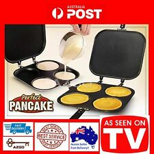 AZ SELLER PIKELET MAKER Pancake Pan Crepe Non Stick Flipjack Omelette Mould TV