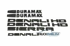2015-17 GMC SIERRA DENALI HD DURAMAX 2500HD 3500HD MATTE BLACK EMBLEM BADGE KIT