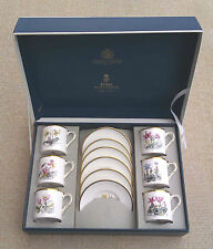 ROYAL WORCESTER - ALPINE FLOWERS COFFEE SET - BOXED