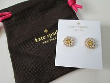 NWT Auth Kate Spade Crystal Bouquet Round Daisy Flower Stud Earrings $58
