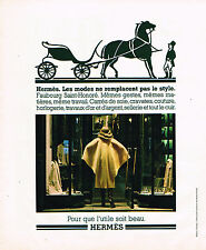 PUBLICITE ADVERTISING 045  1976  HERMES la boutique FBG ST HONORE