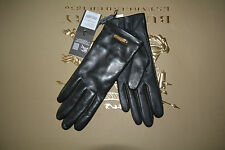 NWT BURBERRY $375 LEATHER TOUCH JENNY  CASHMERE LINED GLOVES SZ 7