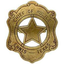 ★★★★BRAND NEW CHIEF OF POLICE  LAW ENFORCEMENT BADGE SOLID METAL MILITARY★★★★