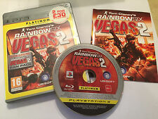 PS3 PLAYSTATION 3 GAME TOM CLANCY'S RAINBOW SIX VEGAS 2 COMPLETE PAL GWO