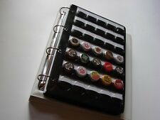 A4 BEER CHAMPAGNE BOTTLE CAPS GRANDE ALBUM 5 x 35 POCKET SLEEVES WHITE