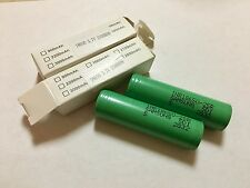 *(2) NEW SAMSUNG 18650 INR Li Battery 2500 mAh Rechargeable 3.7v 25R 20A USA