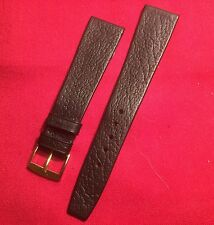 Vintage N.O.S GENTS BLACK  LEATHER TAPERED WRISTWATCH STRAP 60's-20mm