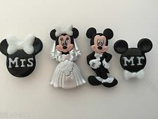 Mickey and Minnie Wedding - Dress It Up Disney novelty craft buttons