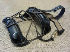 Vintage Wire & Leather Baseball Catchers Mask   Antique Old Ball Equipment 8409