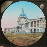 c1890 FRONT OF THE CAPITOL WASHINGTON UNITED STATES MAGIC LANTERN SLIDE