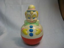 1977 Sanitoy, Inc. Wobble Clown Baby Toy