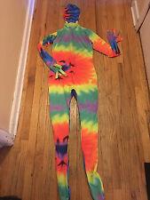 Rainbow Tye Dye Original Morphsuit Adult Large L Halloween