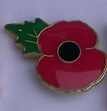 POPPY LAPEL PIN BADGE  REMEMBRANCE NEW ENAMEL Profit to British Legion ...-