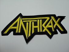 ANTHRAX SHAPED  EMBROIDERED PATCH