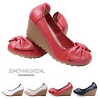 Summer NEW Fashion Women's Genuine Leather Wedge Heel Platform Shoes Sandals