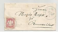 Bayern / Mi.-Nr. 23X / 3 Kr. a. Kabinett-Brief m. viol. K1 LANDAU