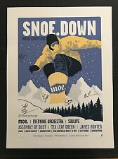 moe. snoe.down Lake Placid NY 2006 Methane Studios poster 1st ED BAND SIGNED VIP