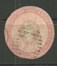 1D PINK PHOENIX GAS LIGHT & COKE CO ADVERTISING RING CUT OUT CUT ROUND AR124