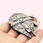 Cool Silver Star Wars Millennium Falcon Keychain Keyring Key Ring Gift TR94 Hot