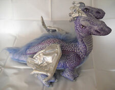 Two (2) Headed Blue/Purple Dragon with Silver Wings Plush by Applause