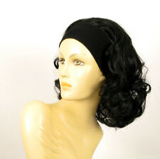 headband wig short curly black ref: EMA 1B