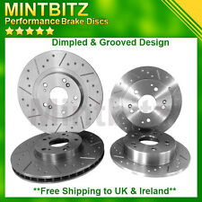 ALFA ROMEO GT 1.9 FRONT REAR Dimpled & Grooved  BRAKE DISCS 2004