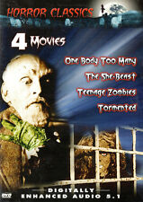 HORROR CLASSICS 4 Movies  - SHE-BEAST / TEENAGE ZOMBIES / TORMENTED / ONE BODY..