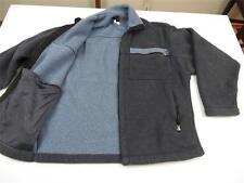 Used Vtg Patagonia Mens USA Made Gray Blue Fleece Cozy Jacket Coat Sz L Gift!!!