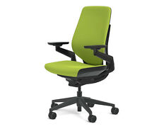 Steelcase Gesture Chair Adjustable Cogent Connect Shell Black Frame Wasabi Green