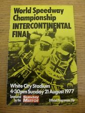 21/08/1977 Speedway Programme: At White City - World Championship Intercontinent