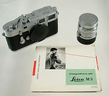 LEICA M 3 M3 superclassic analog rangefinder 755285 Summarit 1,5/50 all 1955 top
