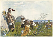 Homer Watercolor Reproductions: Berry Pickers: Fine Art Print
