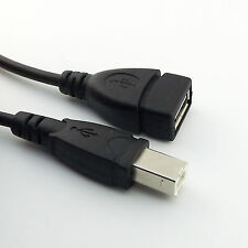 1x USB 2.0 A Female to USB B Male Scanner Printer Extension Cable Adapter 50cm