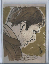 Harrison Ford Indiana Jones Masterpieces 2008 Topps Sketch Card Jamie Snell 1/1