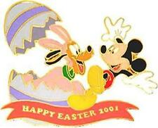 PLUTO in bunny costume & MICKEY MOUSE HAPPY EASTER 2001 LE 3600 Disney PIN