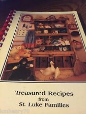 Treasured Recipes From St. Luke Families Spiral Bound Cookbook Free Shipping