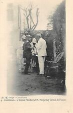POSTCARD  MILITARY   MOROCCO  CAMPAIGNS  Admiral  Philibert and French Consul