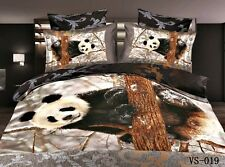 King Size Snow Panda 3d duvet bedding set LIMITED EDITION look xmas