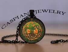 Celtic Irish Tree of Life Black Fashion Pendant Necklace Top quality