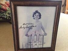 SHIRLEY TEMPLE BLACK - SIGNED 8 x 10 UNFRAMED B/W PHOTO AS A CHILD - C.O.A.