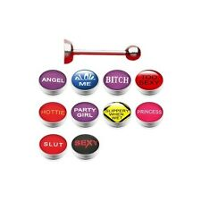 10er  SET  Zungenpiercing   COOLE LOGOS  Piercing Zunge