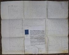 1833 Cauldon & Firsbrook Staffordshire Parchment Probate & Will Laurence Follows
