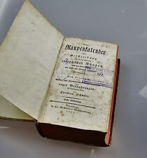Altes antikes Buch Raupenkalender Christian Schwarz 1791 Nürnberg
