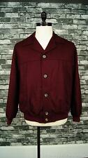 DUNHILL Mens Wool Cashmere Jacket Coat Burgundy Plaid Liner 42 ITALY
