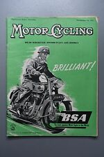 R&L Mag: Motor Cycling Nov 24 1955 Speedway/1911 Pierce/DIY Sidecar