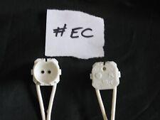 2 X Soporte para Lámpara Fluorescente T5 Cable 200cm Lead Blanco Trabajo Lote Reino Unido Vendedor #EC
