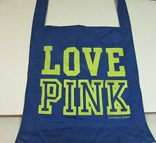 NEW Victoria's Secret LOVE PINK Nylon Tote, Cross Body Shoulder Bag, BLUE
