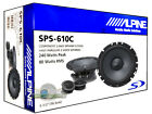 "ALPINE SPS-610C 6.5"" COMPONENT 2-WAY CAR SPEAKER SYSTEM PAIR NEW SPS610C 6 1/2"""