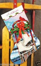 "Dimensions Needlepoint kit 16"" Stocking ~ ICE SKATES #71-09152 Sale"